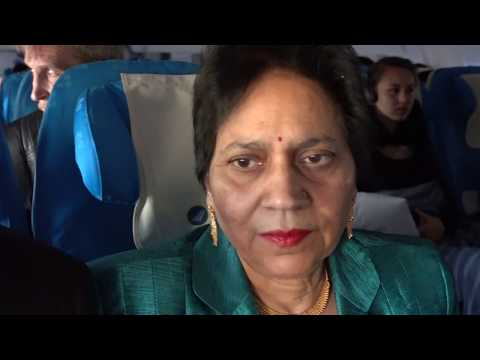 Aruna & Hari Sharma in South China Flight CZ308 enjoying Sun & Clouds, Guangzhou Sky, Aug 14, 2017