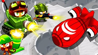MILITARY MONKEYS Only Challenge To Defeat the BOSS AIRSHIP on the Moon in Bloons TD 6!