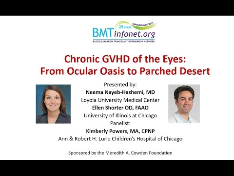 Chronic Graft versus Host Disease of the Eyes From Ocular Oasis to Parched Desert