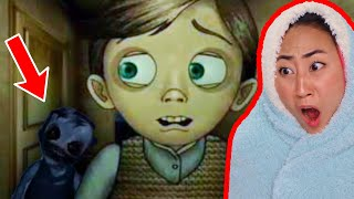 REACTING TO SCARY ANIMATIONS!! **TRY NOT TO SCREAM**