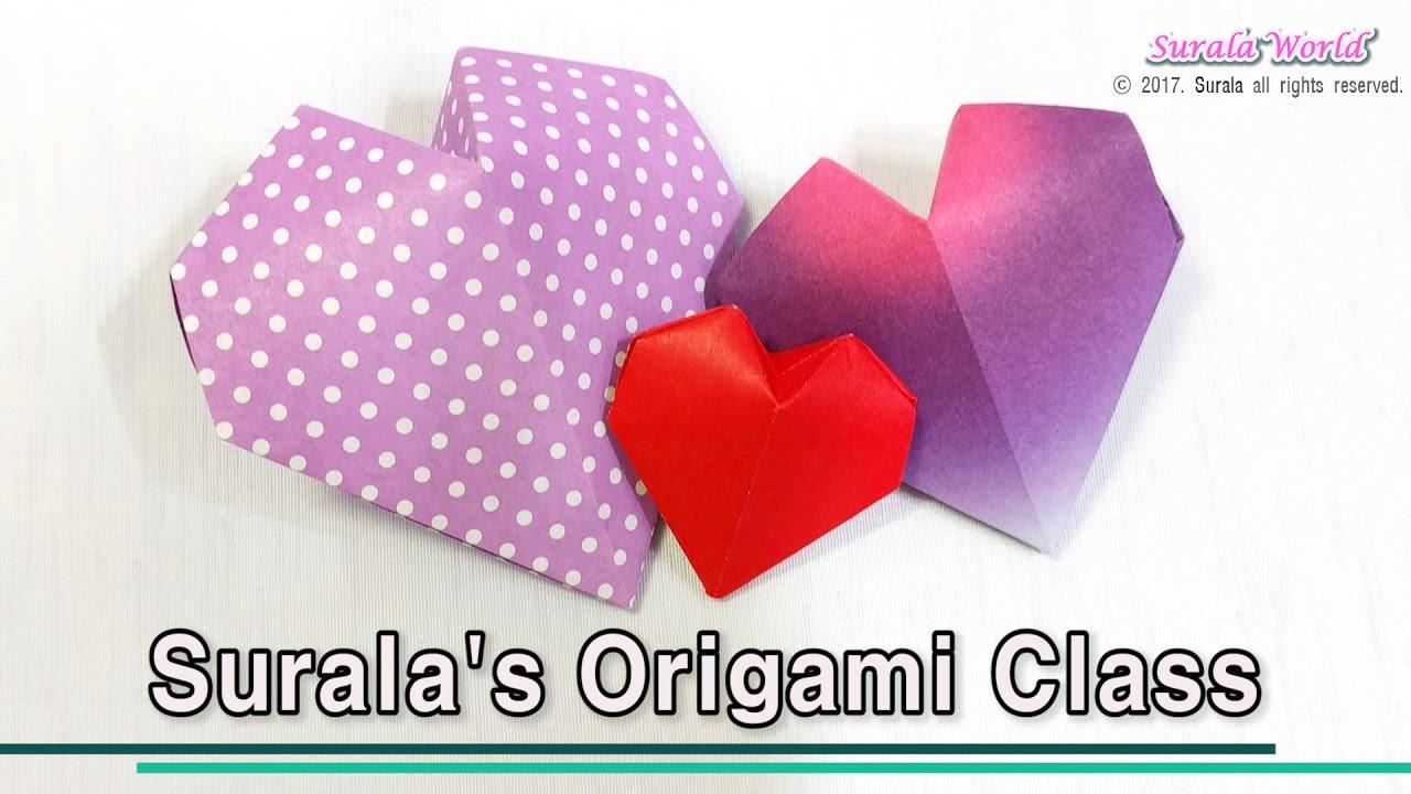 Origami heart 3d youtube origami heart 3d jeuxipadfo Gallery