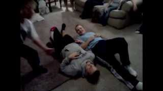 Wrestliing match gets out of Hand at Christmas Gathering!!!!