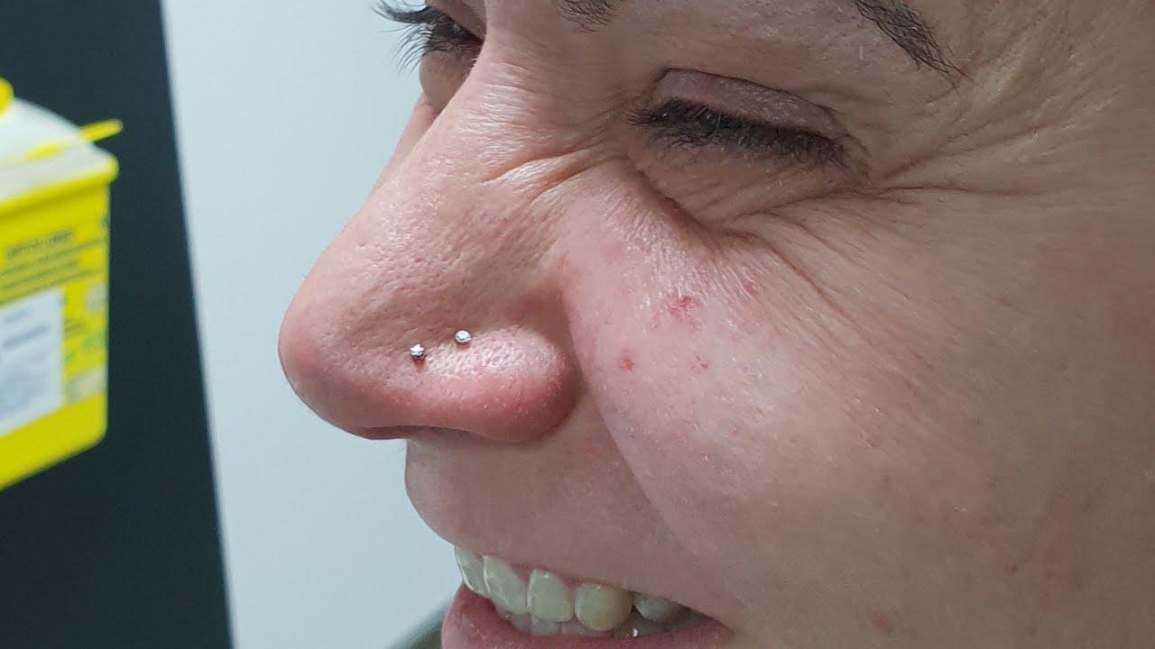 Piercing Narizsegunda Perforación Con Preciosa Mini Cz De 15 Mm