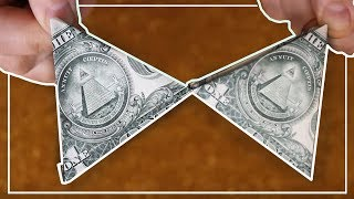 Como doblar billete de dólar en triangulo para la suerte | How to fold dollar bill triangle for luck