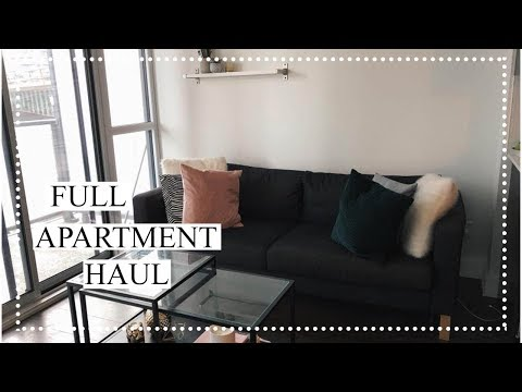 FULL APARTMENT HAUL - DECORATING ON A BUDGET