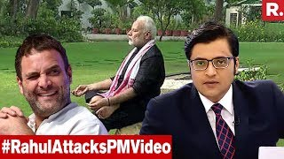 Rahul Gandhi And Company Mock PM Modi's Fitness Video | The Debate With Arnab Goswami