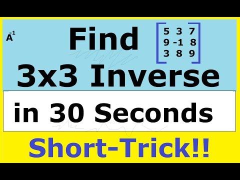 Shortcut method to find A inverse of a 3x3 Matrix: [ IIT JEE maths Matrices Tricks ]