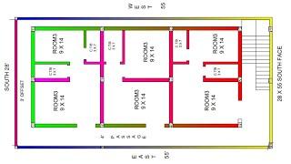 23 × 46 north face house plan map naksha