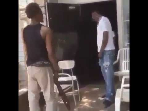 Man gets beat across the face with a belt for stealing