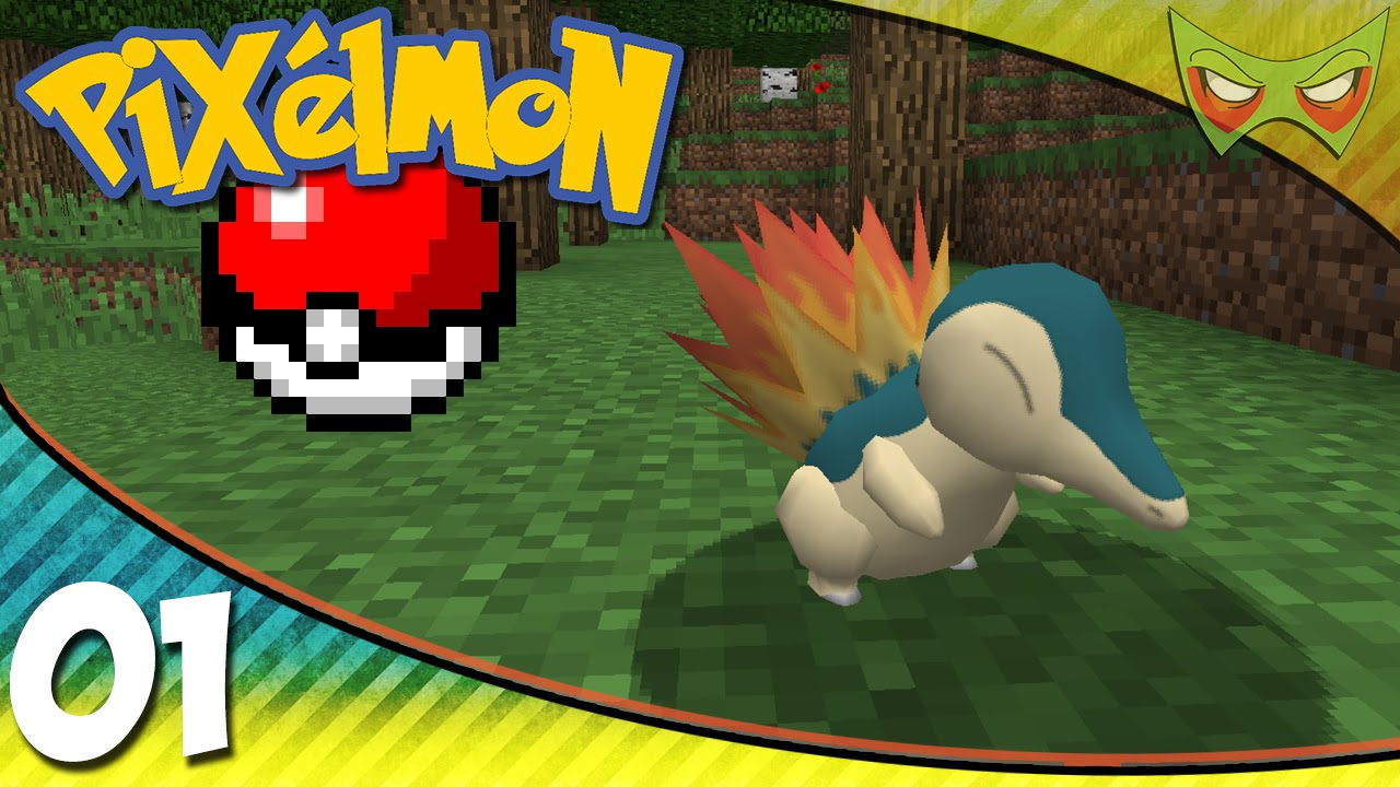 Pixelmon Minecraft Pokemon Mod 01 Cyndaquil Youtube