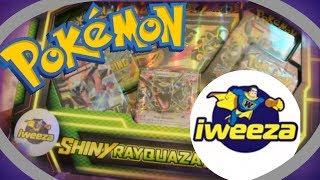 iWeeza Pokemon Collection Box Battle!!! | Shiny Rayquaza Collection Box Opening!
