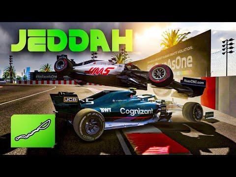 First Race at the NEW 2021 Saudi Arabian GP - Jeddah Street Circuit