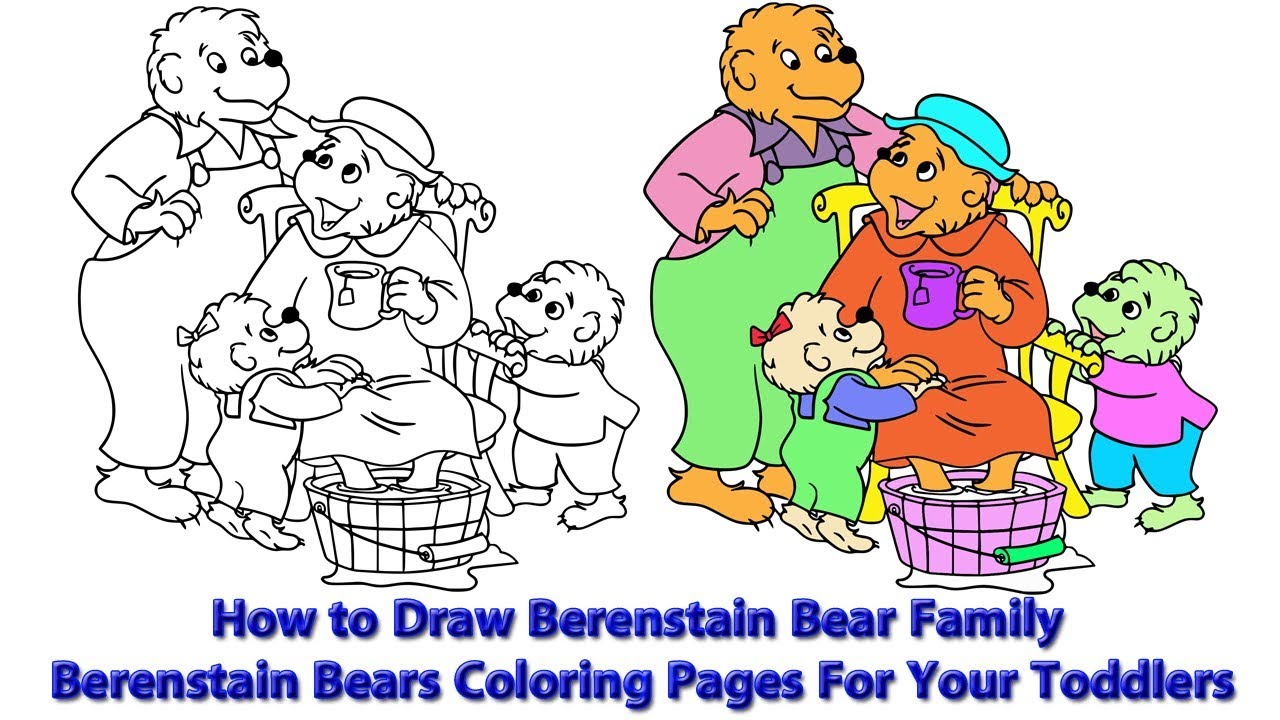 - How To Draw Berenstain Bear Family Berenstain Bears Coloring