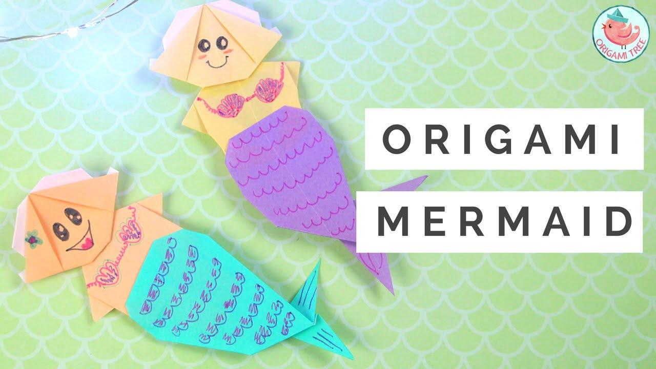 Origami Mermaid Tutorial How To Fold An Origami Mermaid Paper