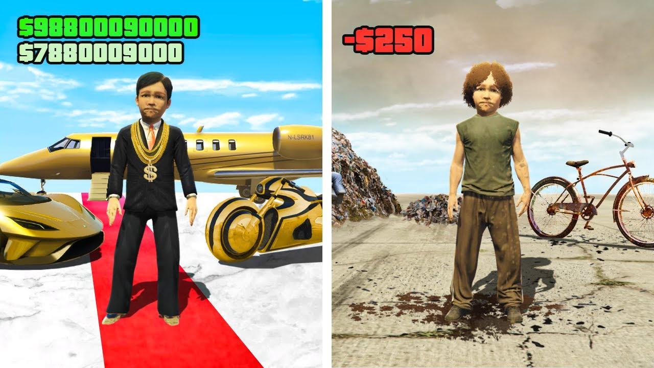 RICH KIDS vs POOR KIDS in GTA 5 RP! (Funny Moments)
