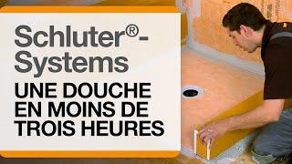 Comment installer une douche de Schluter®-Systems en moins de trois heures