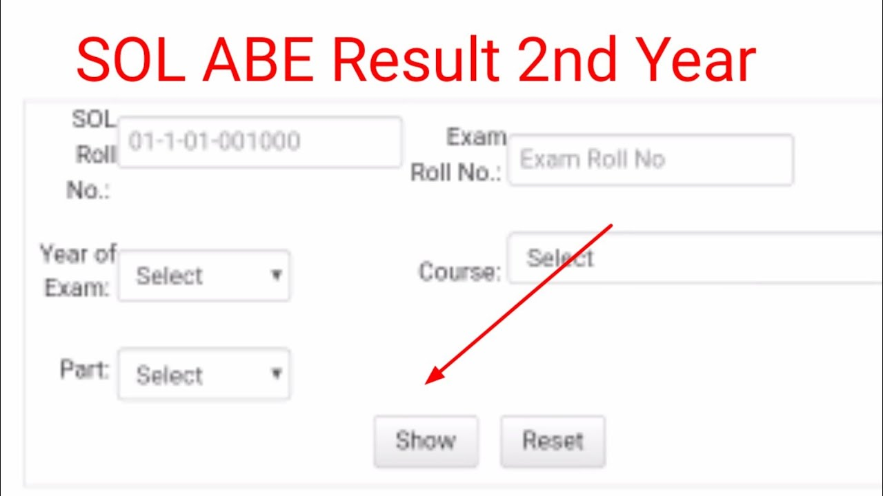 Result Declared- SOL B.com (P) 10nd Year (ABE)