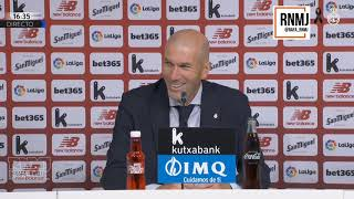 Rueda de prensa de ZIDANE post Athletic Bilbao 0-1 Real Madrid (05/07/2020)