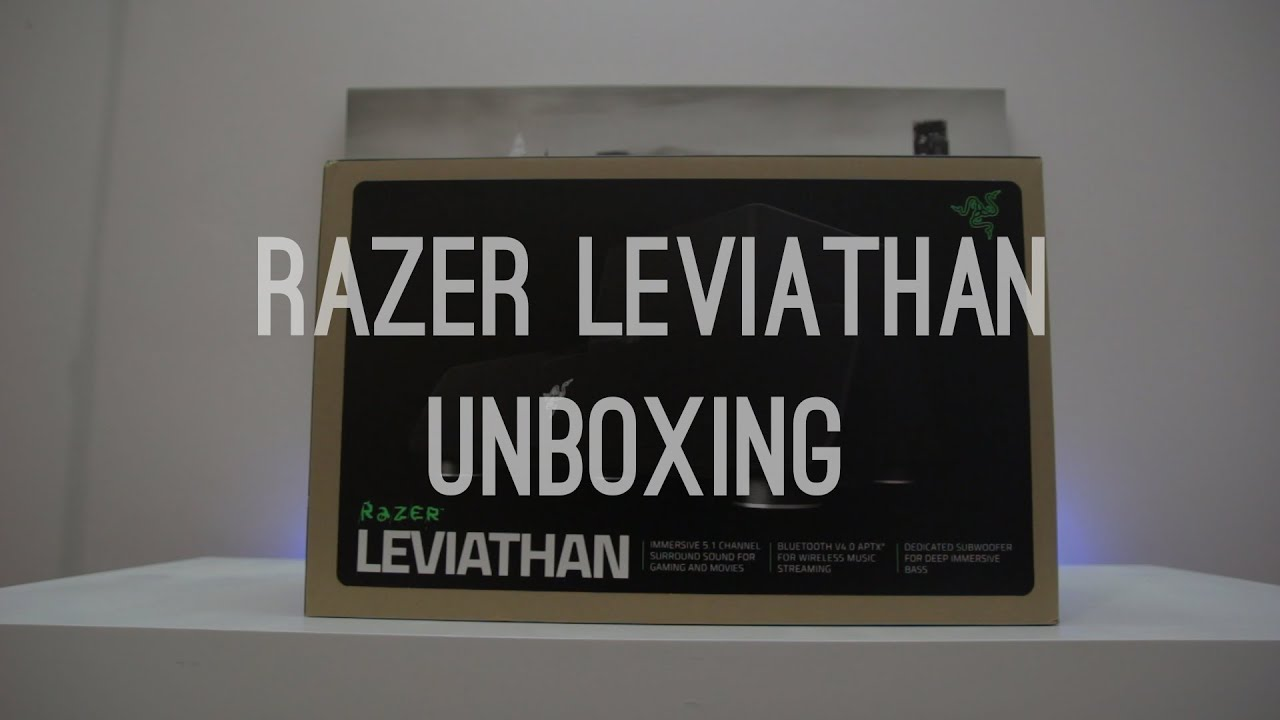 Razer Leviathan Unboxing, Overview and Sound Test!!!