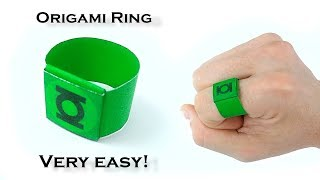 Easiest Origami Ring Ever!