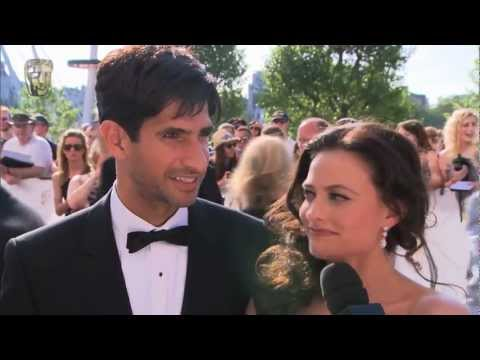 Lara Pulver and Raza Jaffrey  Red Carpet