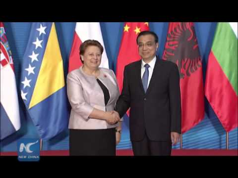 Welcome ceremony for leaders from Central and Eastern Europe