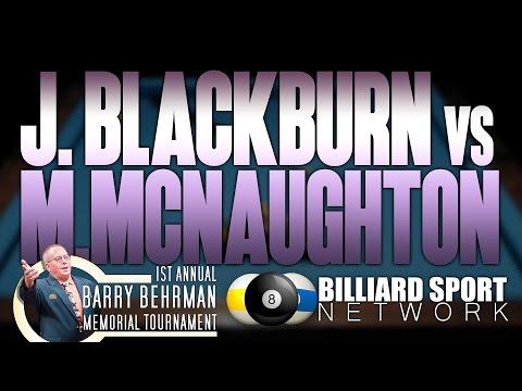 Mike McNaughton Vs James Blackburn | Annual Barry Berhman Memorial 9-Ball Tournament