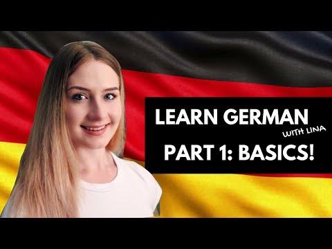 LEARN GERMAN BASICS WITH LINA 🇩🇪