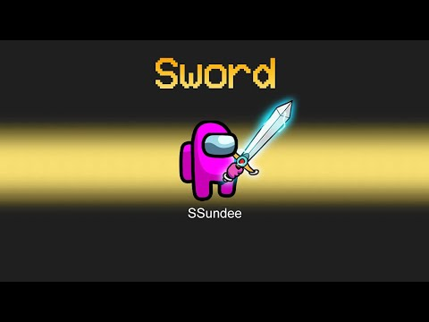 IMPOSTER vs CREWMATE SWORD MOD in Among Us - SSundee