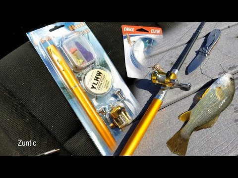 Fishing With A Pen Fishing Rod And Reel Combo Set