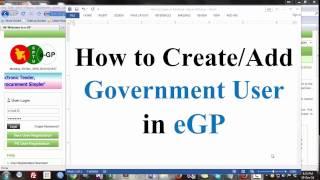 جنيه-على كيف Govt. يمكن للمستخدم إنشاء (www.eprocure.gov.bd)