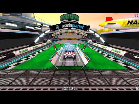 """Track Mania: Stadium """"First Map A01"""" GOLD MEDAL 