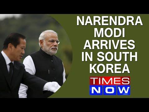 Narendra Modi arrives in South Korea