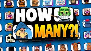THERE ARE MORE EMOTES THAN CARDS in CLASH ROYALE