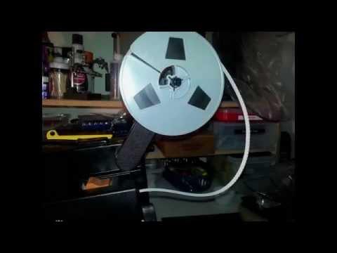 8mm Projector Supply Reel Film Lopping Repair - Belt Testing
