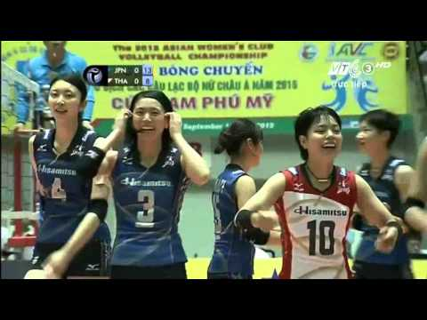 [Final]Bangkok Glass(THA) vs Hisamitsu (Japan):Asian Women'Volleyball Club Championship 2015