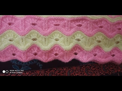 Zig-zag scalloped Border knitting pattern for ladies cardigan #71knittingLesson#2018.