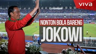 Video Nonton Piala Presiden Bareng Jokowi [Matchday Vlog] download MP3, 3GP, MP4, WEBM, AVI, FLV Juni 2018