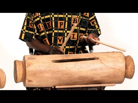 How to Play the Log Drum   African Drums