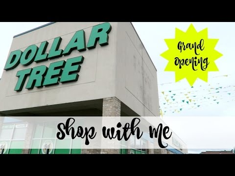 SHOP WITH ME | DOLLAR TREE | GRAND OPENING