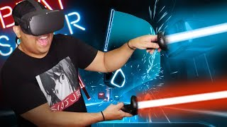 THESE BEATS GOT ME SWEATING!! [BEAT SABER] [OCULUS QUEST]