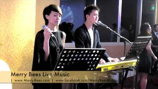Merry Bees Live Music - Phoebee & Eric sings We Are Young (by Fun) *Singapore Wedding Singers*