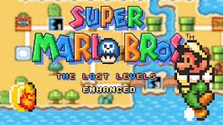 Super Mario Bros. - The Lost Levels Enhanced [#1/#2] • Super Mario World ROM Hack (Playthrough)