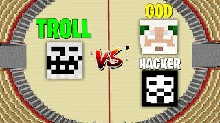 Minecraft Battle: NOOB vs PRO : HACKER & GOD vs TROLL Challenge in Minecraft
