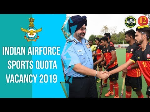 Indian Air Force Sports Quota Vacancy, Eligibility, Selection Process Full Detail.