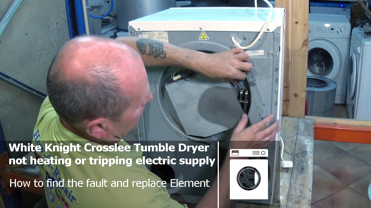 White Knight Tumble Dryer Heater Element Wiring Diagram Vaillant Ecotec Plus 630 System Boiler Compact Not Heating Tripping The Electrical Supply Youtube