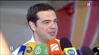 El primer ministre grec Alexis Tsipras i el ministre de de finances Yanis Varoufakis ja ...
