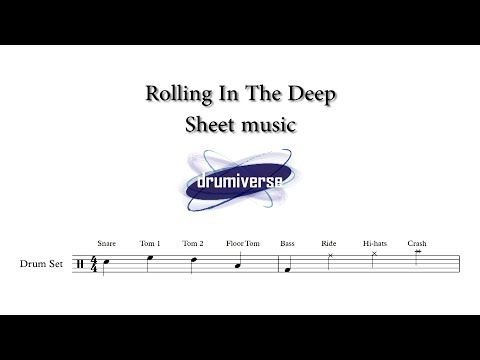 Rolling In The Deep by Adele - Drum Score (Request #37)