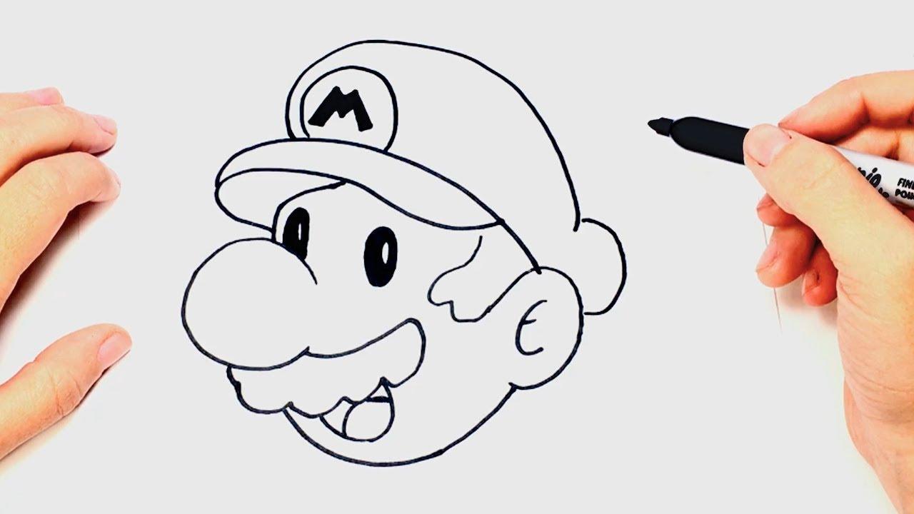 Cómo Dibujar A Mario Bros Paso A Paso Dibujo Facil De Mario Bros