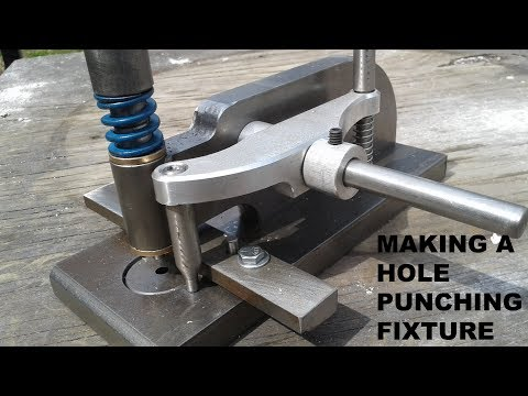Making a hole punching fixture on a Tormach